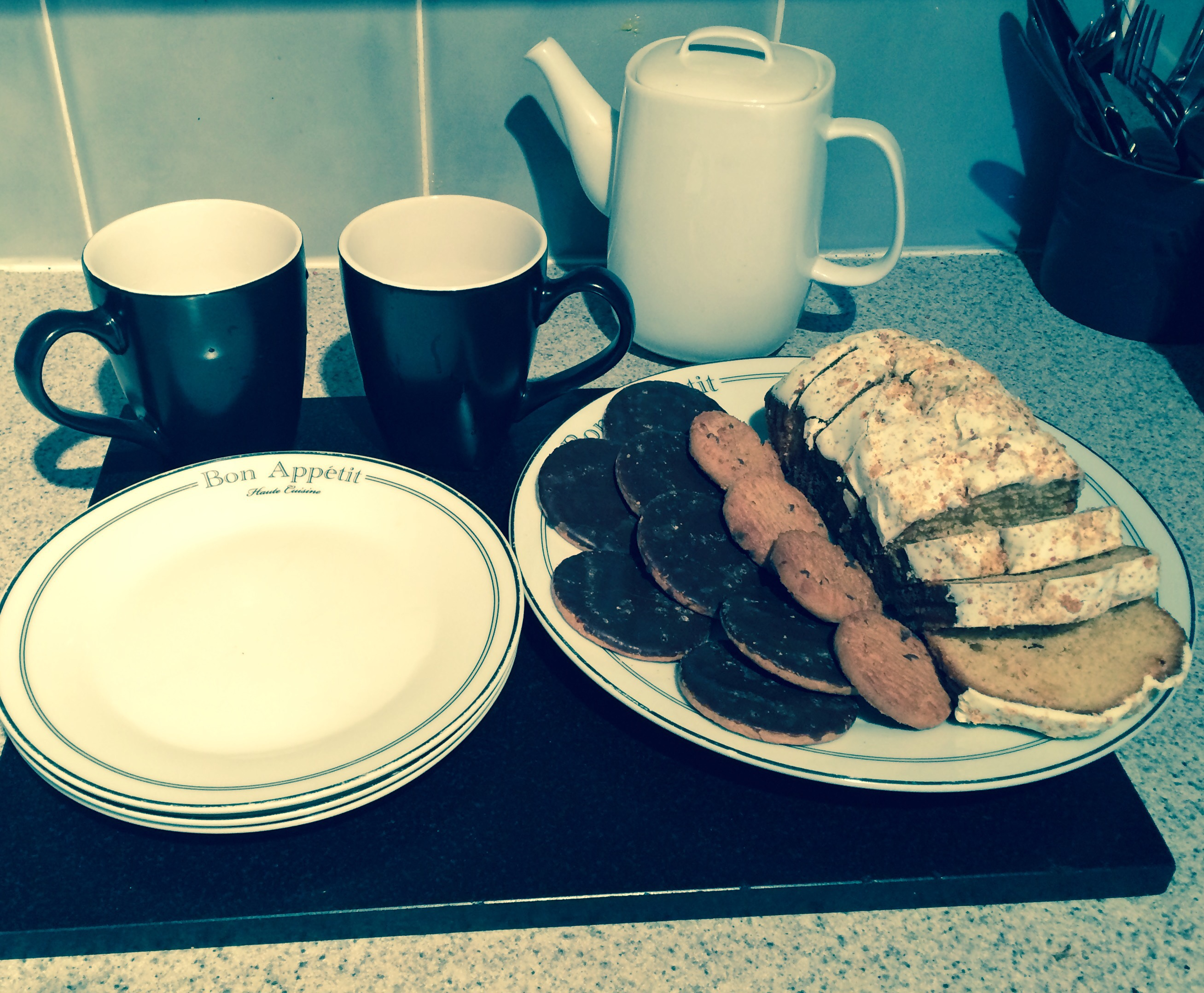 tea and biscuits for the Vicar