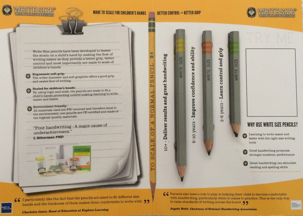 WRITESIZE Pencil Range