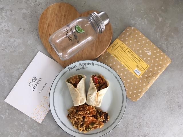 A Picture of the Fajitas from the Everdine subscription box
