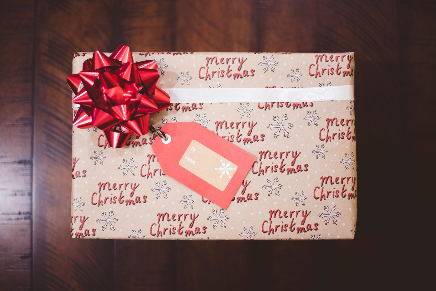 A picture of a Christmas Present