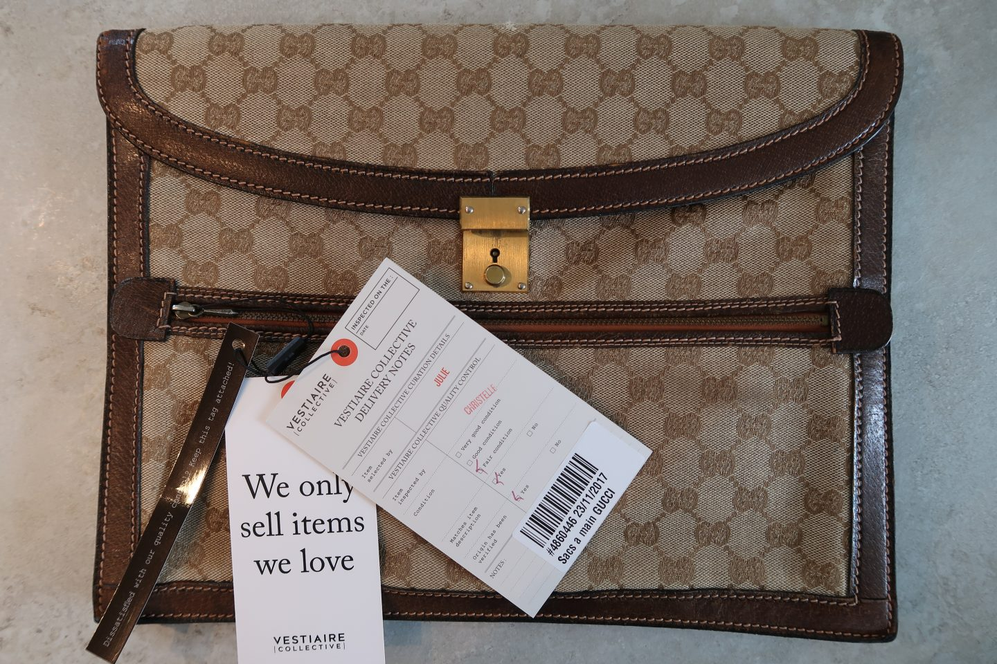 Gucci bag purchased from Vestiaire