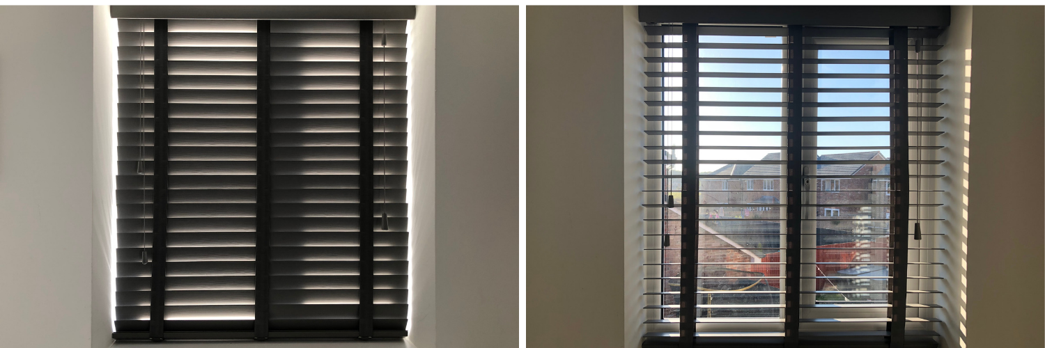 Blinds before and after