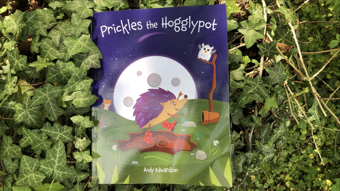 Prickles the Hogglypot book resting on some ivy